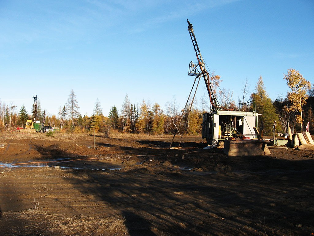 Exploration drilling in Malartic in 2006