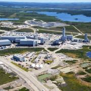 Vue aérienne du complexe minier Éléonore